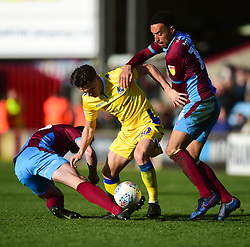 Tom Nichols of Bristol Rovers battles for the ball with James Perch of Scunthorpe United - Mandatory by-line: Alex James/JMP - 09/03/2019 - FOOTBALL - Glanford Park - Scunthorpe, England - Scunthorpe United v Bristol Rovers - Sky Bet League One