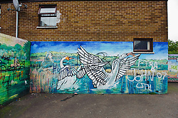 Mural on house near the Falls Road in Belfast, Northern ireland<br /> <br /> (c) Andrew Wilson | Edinburgh Elite media
