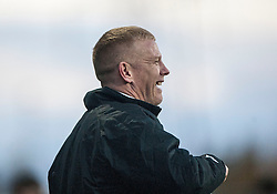 Falkirk's manager Gary Holt.<br /> Falkirk 4 v 1 Livingston, Scottish Championship game played today at the Falkirk Stadium.<br /> &copy;Michael Schofield.