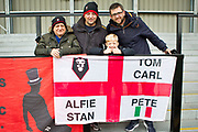 Salford City fans before the EFL Sky Bet League 2 match between Salford City and Cambridge United at Moor Lane, Salford, United Kingdom on 12 October 2019.