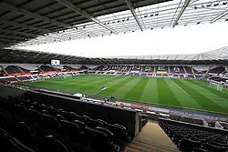 Inside the Liberty Stadium prior to kick off. - Photo mandatory by-line: Alex James/JMP - Mobile: 07966 386802 30/08/2014 - SPORT - FOOTBALL - Swansea - Liberty Stadium - Swansea City v West Brom - Barclays Premier League