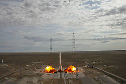 June 8, 2017 - Baikonur, Kazakhstan - June 8, 2017 at 6:45 MT the Proton-M launch vehicle successfully lifted off from the Baikonur Space Center in Kazakhstan, with the EchoStar 21 satellite on board. It was the first Proton-M launch in 2017. Photo: twitter.com/roscosmos (Credit Image: © Russian Look via ZUMA Wire)
