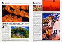"Shutterbug Magazine travel photography column ""On the Road"" by photographer Blaine Harrington III, November 2014 issue."