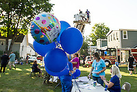 Laconia's National Night Out at Sanborn Park on Tuesday evening.  (Karen Bobotas/for the Laconia Daily Sun)
