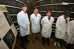 Bristol Sport CEO Andrew Billingham, Bristol Rugby Director of Rugby Andy Robinson and Bristol City Manager Lee Johnson look on as Thatcher's Cider Director Martin Thatcher takes Bristol Sport representatives on a tour of Myrtle Farm - Rogan Thomson/JMP - 29/07/2016 - PR - Myrtle Farm - Sandford, England - Bristol Sport Thatchers Visit.
