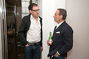 DEXTER DALWOOD; DAVID SALLE, David Salle private view at the Maureen Paley Gallery. 21 Herlad St. London. E2. <br /> <br />  , -DO NOT ARCHIVE-© Copyright Photograph by Dafydd Jones. 248 Clapham Rd. London SW9 0PZ. Tel 0207 820 0771. www.dafjones.com.