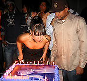 "Alicia Keys Blowing her Birthday Cake with Kerry ""Krucial"" Brothers.Alicia Keys 26th Birthday Party.Bed Nightclub.New York, NY, USA .Wednesday, January 24, 2007.Photo By Selma Fonseca/Celebrityvibe.com.To license this image call (212) 410 5354 or;.Email: celebrityvibe@gmail.com; .Website: http://www.celebrityvibe.com/."