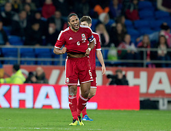 16.11.2013, Cardiff City Stadium, Cardiff, WAL, Fussball Testspiel, Wales vs Finnland, im Bild Wales' captain Ashley Williams shouts, frustration after Finland score, late equaliser // during the international friendly match between Wales and Finland at the Cardiff City Stadium in Cardiff, Great Britain on 2013/11/17. EXPA Pictures © 2013, PhotoCredit: EXPA/ Propagandaphoto/ Kieran McManus<br /> <br /> *****ATTENTION - OUT of ENG, GBR*****