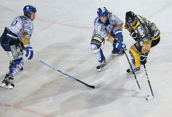 16.09.2012, Amphitheater, Pula, CRO, EBEL, Ice Fever, KHL Medvescak Zagreb vs UPC Vienna Capitals, 04. Runde, im Bild Dennis Bozic, Michael Schiechl // during the Erste Bank Icehockey League 04th Round match betweeen KHL Medvescak Zagreb and UPC Vienna Capitals at the Amphitheater, Pula, Croatia on 2012/09/16. EXPA Pictures © 2012, PhotoCredit: EXPA/ Pixsell/ Igor Kralj ****** ATTENTION - OUT OF CRO, SRB, MAZ, BIH and POL *****