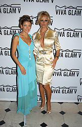 Left to right, DANNI MINOGUE and PAMELA ANDERSON at a party to celebrate Pamela Anderson's new role as spokesperson and newest face of the MAC Aids Fund's Viva Glam V Campaign held at Home House, Portman Square, London on 21st April 2005.<br />