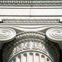 Ionic Column, Close-up