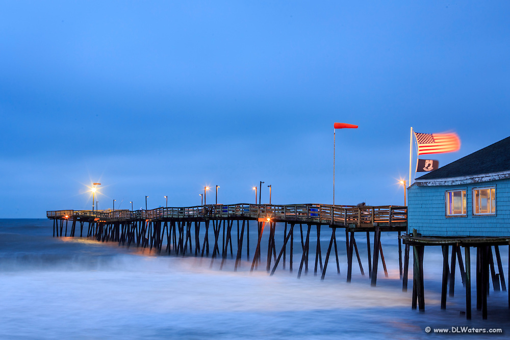 Twilight at Avolon Fishing Pier in Kill Devil Hills, NC on the Outer Banks.