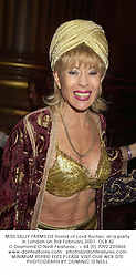 MISS SALLY FARMILOE friend of Lord Archer, at a party in London on 3rd February 2001.OLB 42