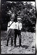 young adult boy and girl rural USA 1920s