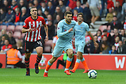 Mateo Kovacic (17) of Chelsea on the attack during the Premier League match between Southampton and Chelsea at the St Mary's Stadium, Southampton, England on 7 October 2018.