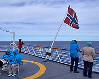 Norwegian Flag on the Aft Deck of the Hurtigruten MS Fram. Image taken with a Leica T camera and 11-23 mm lens (ISO 100, 18 mm, f/11, 1/320 sec).