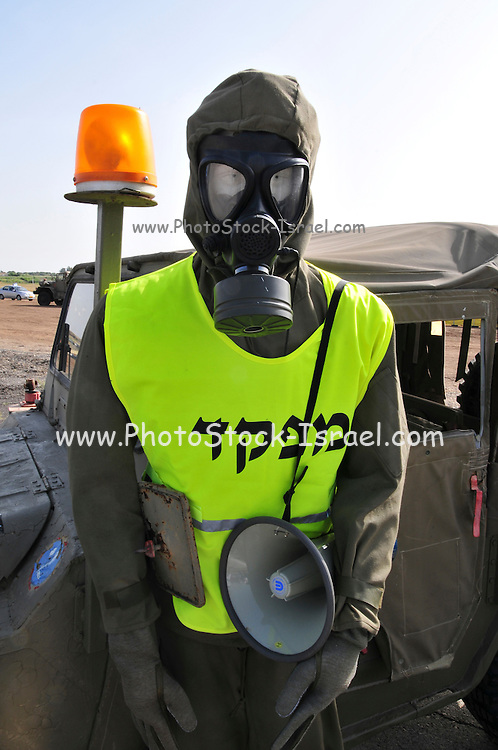 Israel, Tel Nof IAF Base, An Israeli Air force (IAF) exhibition Chemical warfare protective clothing