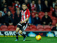 Lasse Vibe of Brentford during the Sky Bet Championship match between Brentford and Hull City at Griffin Park, London<br /> Picture by Mark D Fuller/Focus Images Ltd +44 7774 216216<br /> 03/11/2015