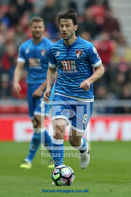 Harry Arter of Bournemouth during the Premier League match at the Stadium Of Light, Sunderland<br /> Picture by Simon Moore/Focus Images Ltd 07807 671782<br /> 29/04/2017