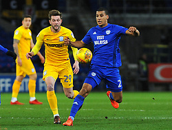 Lee Peltier of Cardiff City competes with Tom Barkhuizen of Preston North End- Mandatory by-line: Nizaam Jones/JMP - 29/12/2017 -  FOOTBALL - Cardiff City Stadium - Cardiff, Wales -  Cardiff City v Preston North End - Sky Bet Championship