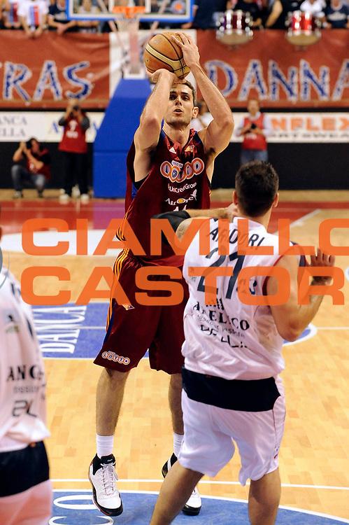DESCRIZIONE : Biella Lega A 2008-09 Playoff Quarti di finale Gara 2 Angelico Biella Lottomatica Virtus Roma<br /> GIOCATORE : De La Fuente<br /> SQUADRA : Lottomatica Virtus Roma<br /> EVENTO : Campionato Lega A 2008-2009 <br /> GARA : Angelico Biella Lottomatica Virtus Roma<br /> DATA : 20/05/2009<br /> CATEGORIA : Tiro<br /> SPORT : Pallacanestro <br /> AUTORE : Agenzia Ciamillo-Castoria/G.Ciamillo<br /> Galleria : Lega Basket A1 2008-2009 <br /> Fotonotizia : Biella Lega A 2008-09 Playoff Quarti di finale Gara 2 Angelico Biella Lottomatica Virtus Roma<br /> Predefinita :