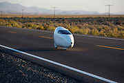Ellen van Vugt op de ze zesde racedag van de WHPSC. In de buurt van Battle Mountain, Nevada, strijden van 10 tot en met 15 september 2012 verschillende teams om het wereldrecord fietsen tijdens de World Human Powered Speed Challenge. Het huidige record is 133 km/h.<br />