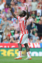 Mame Biram Diouf of Stoke City - Mandatory byline: Dougie Allward/JMP - 07966386802 - 09/08/2015 - FOOTBALL - Britannia Stadium -Stoke-On-Trent,England - Stoke City v Liverpool - Barclays Premier League