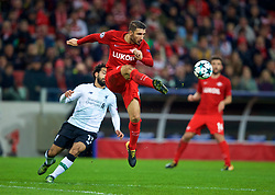 MOSCOW, RUSSIA - Tuesday, September 26, 2017: FC Spartak Moscow's Salvatore Bocchetti during the UEFA Champions League Group E match between Spartak Moscow and Liverpool at the Otkrytie Arena. (Pic by David Rawcliffe/Propaganda)