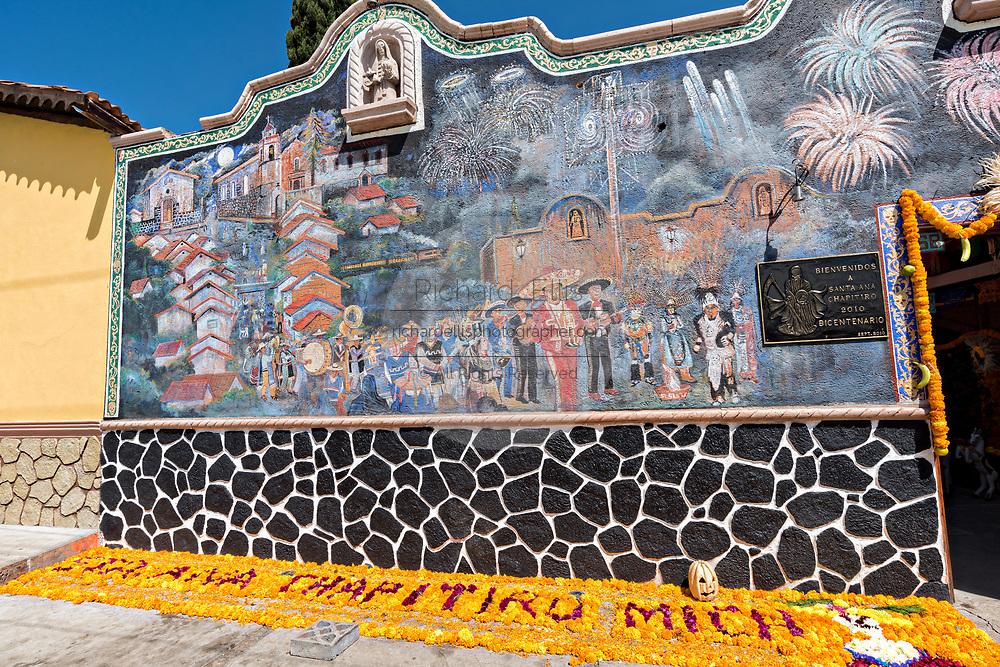 Temple of Nuestra Señora de la Santa Muerte or Church of the Saint of the Dead November 1, 2017 in Santa Ana Chapitiro, Michoacan, Mexico.