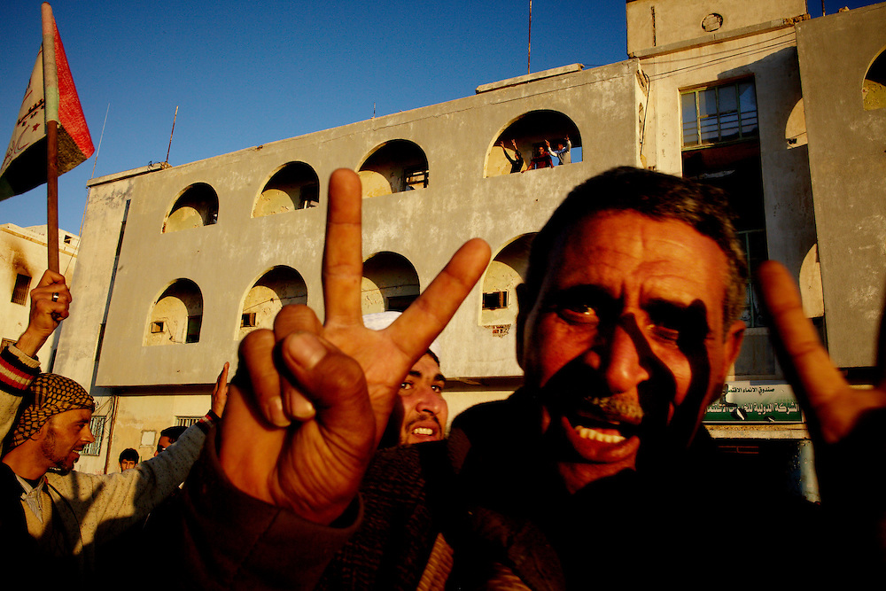 Benghazi, Libya, 28.02.11..Egyptians showing support for the libyan uprising in the streets of Benghazi...Photo by: Eivind H. Natvig/MOMENT