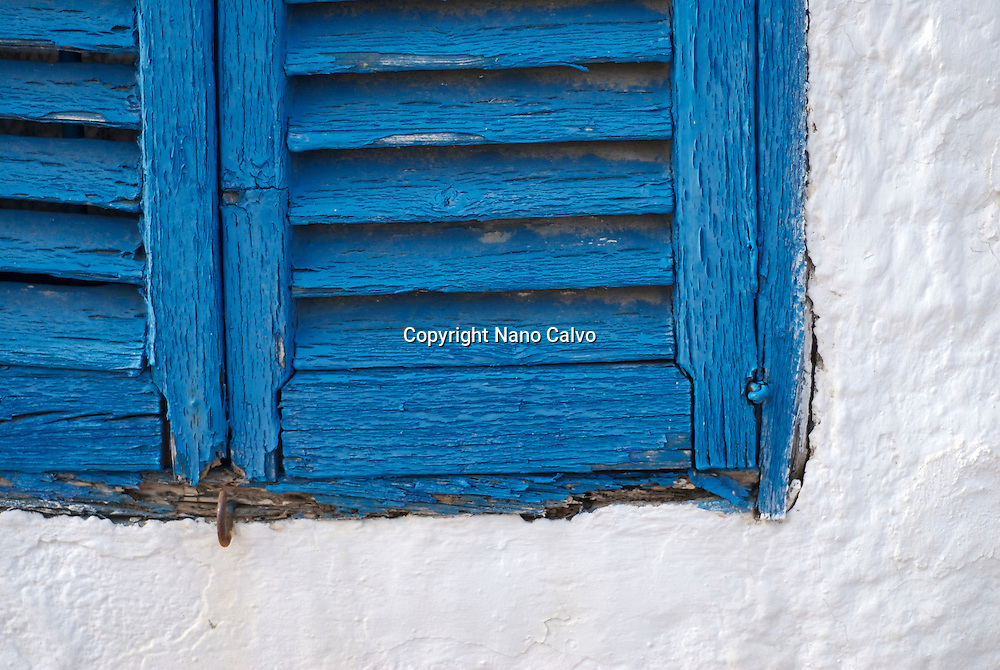 Wood blue windows, Ibiza