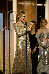 "Jan 8, 2017 - Beverly Hills, California, U.S - SARAH PAULSON accepts the Golden Globe Award for BEST PERFORMANCE BY AN ACTRESS IN A MINI-SERIES OR MOTION PICTURE MADE FOR TELEVISION for her role in ""The People v. O.J. Simpson: American Crime Story"" at the 74th Annual Golden Globe Awards at the Beverly Hilton in Beverly Hills, CA on Sunday, January 8, 2017. (Credit Image: ? HFPA/ZUMAPRESS.com)"