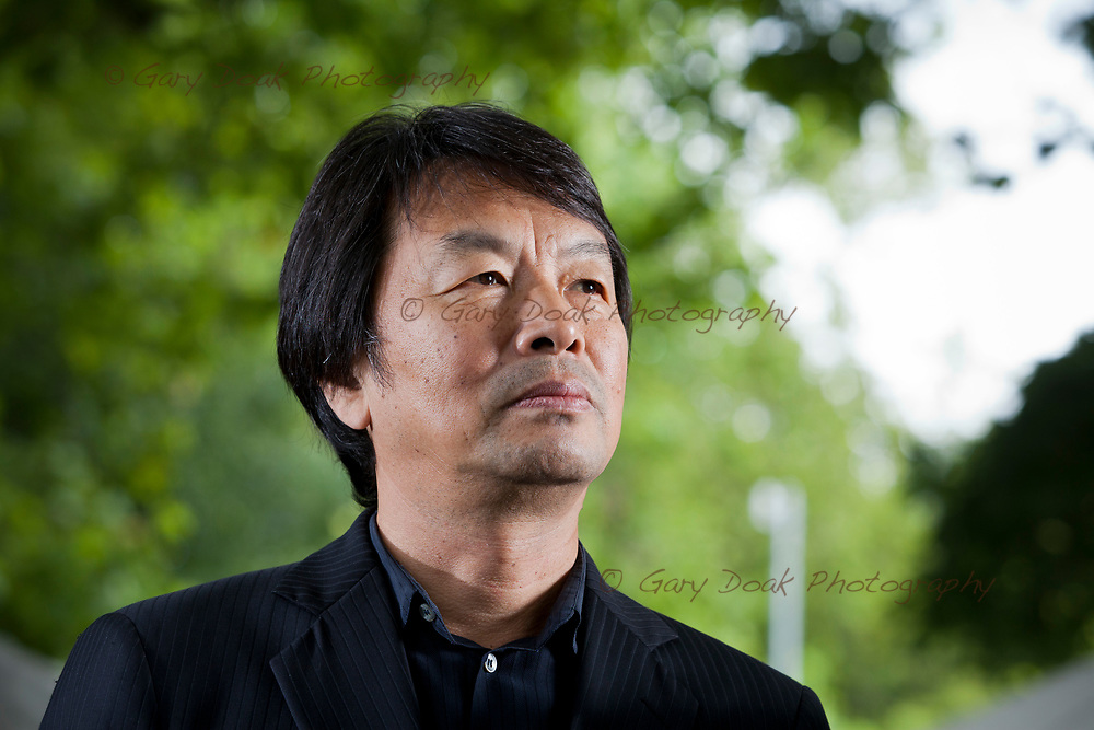 Liu Zhenyun, the Chinese novelist, at the Edinburgh International Book Festival. Edinburgh, Scotland.<br /> 12th August 2017<br /> Picture by Gary Doak