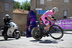 Anna van der Breggen (NED) of Boels-Dolmans Cycling Team digs deep at the top of the final climb of Stage 5 of the Giro Rosa - a 12.7 km individual time trial, starting and finishing in Sant'Elpido A Mare on July 4, 2017, in Fermo, Italy. (Photo by Balint Hamvas/Velofocus.com)