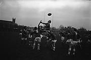 Irish Rugby Football Union, Ireland v New Zealand, Tour Match, Landsdowne Road, Dublin, Ireland, Saturday 7th December, 1963,.7.12.1963, 12.7.1963,..Referee- H Keenen, Rugby Football Union, ..Score- Ireland 5 - 6 New Zealand, ..Irish Team, ..T J Kiernan, Wearing number 15 Irish jersey, Full Back, Cork Constitution Rugby Football Club, Cork, Ireland,..J Fortune, Wearing number 14 Irish jersey, Right Wing, Clontarf Rugby Football Club, Dublin, Ireland,..P J Casey, Wearing number 13 Irish jersey, Right Centre, University College Dublin Rugby Football Club, Dublin, Ireland, ..J C Walsh,  Wearing number 12 Irish jersey, Left Centre, University college Cork Football Club, Cork, Ireland,..A T A Duggan, Wearing number 11 Irish jersey, Left Wing, Landsdowne Rugby Football Club, Dublin, Ireland,..M A English, Wearing number 10 Irish jersey, Stand Off, Landsdowne Rugby Football Club, Dublin, Ireland, ..J C Kelly, Wearing number 9 Irish jersey, Captain of the Irish team, Scrum Half, University College Dublin Rugby Football Club, Dublin, Ireland,..P J Dwyer, Wearing number 1 Irish jersey, Forward, University College Dublin Rugby Football Club, Dublin, Ireland, ..A R Dawson, Wearing number 2 Irish jersey, Forward, Wanderers Rugby Football Club, Dublin, Ireland, ..R J McLoughlin, Wearing number 3 Irish jersey, Forward, Gosforth Rugby Football Club, Newcastle, England, ..W J McBride, Wearing number 4 Irish jersey, Forward, Ballymena Rugby Football Club, Antrim, Northern Ireland,..W A Mulcahy, Wearing number 5 Irish jersey, Forward, Bective Rangers Rugby Football Club, Dublin, Ireland,  ..E P McGuire, Wearing number 6 Irish jersey, Forward, University college Galway Football Club, Galway, Ireland,  ..P J A O' Sullivan, Wearing  Number 8 Irish jersey, Forward, Galwegians Rugby Football Club, Galway, Ireland,..N A Murphy, Wearing number 7 Irish jersey, Forward, Cork Constitution Rugby Football Club, Cork, Ireland,..New Zealand Team, ..D B Clarke, Wearing number 1 New Zealand Jersey, F