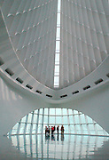 FIELD TRIP -- Students from Blessed Sacrament School in Milwaukee enjoy a field trip to the Milwaukee Art Museum Jan. 16. The museum's towering pavilion, which overlooks Lake Michigan, was designed by Spanish architect Santiago Calatrava. (Photo by Sam Lucero)