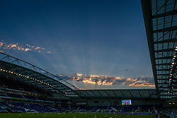 The sun set at Amex Stadium on the hottest day in September since 1911 - Mandatory by-line: Jason Brown/JMP - 13/09/2016 - FOOTBALL - Amex Stadium - Brighton, England - Brighton & Hove Albion v Huddersfield Town - Sky Bet Championship