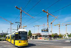 Construction site of new Allianz Campus at Adlershof Science and Technology Park in Berlin, Germany