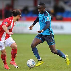 TELFORD COPYRIGHT MIKE SHERIDAN 9/2/2019 - Dan Udoh of AFC Telford during the Vanarama Conference North fixture between Brackley Town and AFC Telford United at St James' Park.