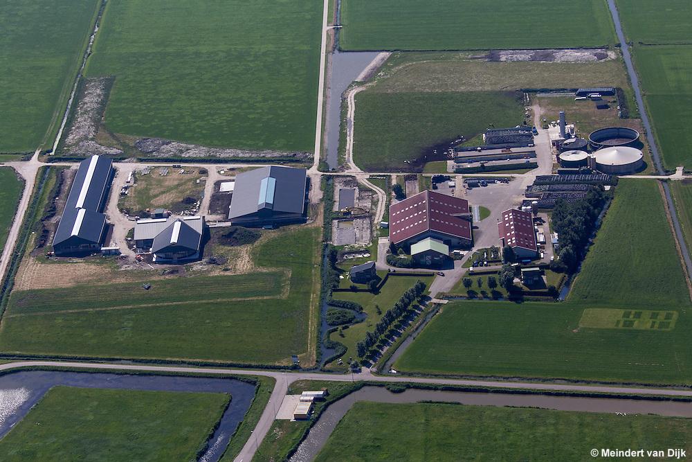Luchtfoto van de Dairy Campus bij Goutum (Leeuwarden), op de oude locatie van Nij Bosma Zathe.