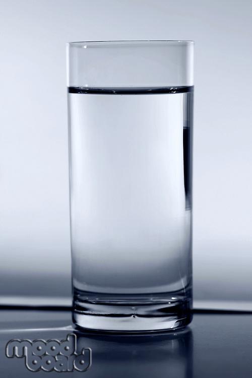 Studio shot of glass of water