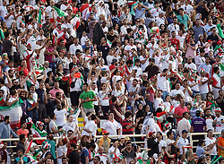 January 12, 2019 - Abu Dhabi, Abu Dhabi, United Arab Emirates - Iranian fans celebrating scoring to 2-0    during Vietnam v Iran, AFC Asian Cup football, Nahyan Stadium, Abu Dhabi, United Arab Emirates on January 12, 2019  (Credit Image: © Ulrik Pedersen/NurPhoto via ZUMA Press)
