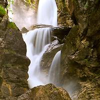 Waterfall in Austria, slow shutter speed for silky effect.