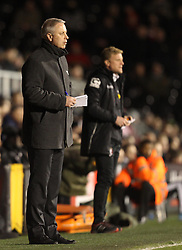 Fulham Manager, Kit Symons and Bournemouth Manager, Eddie Howe - Photo mandatory by-line: Robbie Stephenson/JMP - Mobile: 07966 386802 - 06/03/2015 - SPORT - Football - Fulham - Craven Cottage - Fulham v AFC Bournemouth - Sky Bet Championship