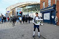 Football - 2019 / 2020 Premier League - Tottenham Hotspur vs. Chelsea<br /> <br /> A Tottenham fan dressed as Son Heung-Min, at The Tottenham Hotspur Stadium.<br /> <br /> COLORSPORT/ASHLEY WESTERN
