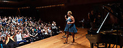West End Stage celebrates its milestone 10,000th student<br /> with a special visit from Marisha Wallace<br /> star of multi-award winning West End musical Dreamgirls <br /> at Guildhall School of Music, London, Great Britain <br /> 17th August 2018 <br /> <br /> Marisha Wallace who plays <br /> the role of Effie White in Dreamgirls <br /> <br /> <br /> <br /> In summer 2006, West End Stage began in a bid to become the UK&rsquo;s leading theatre summer school.&nbsp;Its aim was, and still is, to ignite a global passion for theatre, uniting young people from all over the world. Throughout the week-long course led by West End stars,&nbsp;the students&nbsp; take part in in an exciting mix of drama, singing and dance classes, as well as enjoying an inspirational trip to a West End musical. The highlight of every student&rsquo;s week is the chance to make their own West End debut at Her Majesty&rsquo;s Theatre, the world-famous home of The Phantom of the Opera, in front of a huge audience of family, friends and industry professionals.<br /> <br /> Mark Puddle, Founder and Chief Executive of West End Stage, said &ldquo;I am absolutely delighted that Marisha could join us direct from the West End to celebrate the 10,000 students who have enjoyed once-in-a-lifetime opportunities at the summer school, making friends for life along the way. The course is going from strength to strength, thanks to the hard work and passion of our teachers, staff and supporters who work tirelessly to ensure a safe and exciting experience.&rdquo;<br /> <br /> Photograph by Elliott Franks
