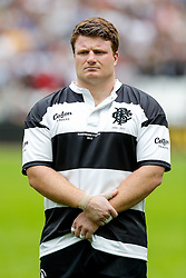 Barbarians replacement Kyle Traynor (Bristol Rugby) lines up during the anthems - Mandatory byline: Rogan Thomson/JMP - 07966 386802 - 29/08/2015 - RUGBY UNION - The Stadium at Queen Elizabeth Olympic Park - London, England - Barbarians v Samoa - International Friendly.