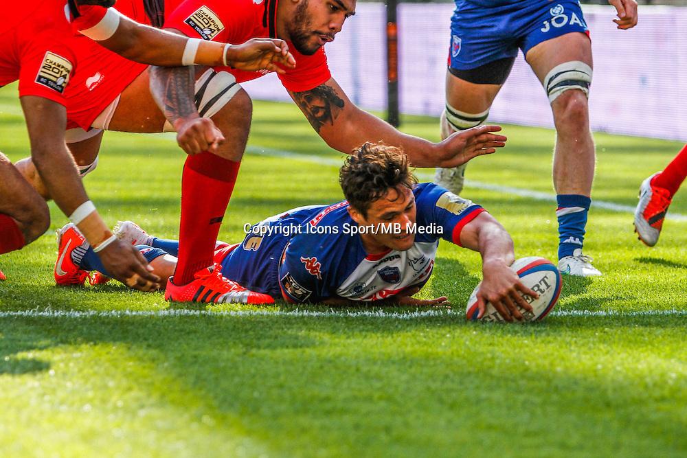 Jakson WILLISON essai  - 11.04.2015 - Grenoble / Toulon  - 22eme journee de Top 14 <br />Photo :  Jacques Robert / Icon Sport