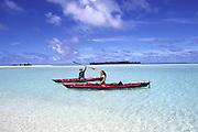 Kayak, Maina Island, Aitutaki, Cook Islands<br />