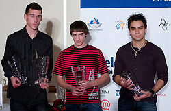 Jure Trupej, Matevz Majcen and Uros Jovanovic at Best Slovenian athlete of the year ceremony, on November 15, 2008 in Hotel Lev, Ljubljana, Slovenia. (Photo by Vid Ponikvar / Sportida)